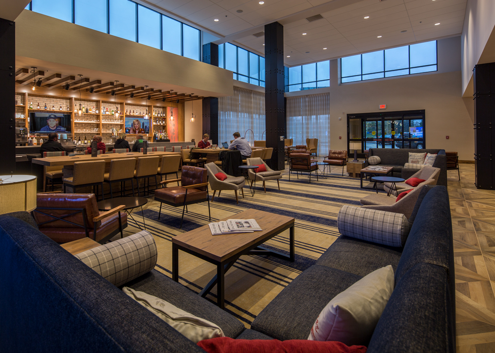 Lobby of the Ann Arbor Hyatt