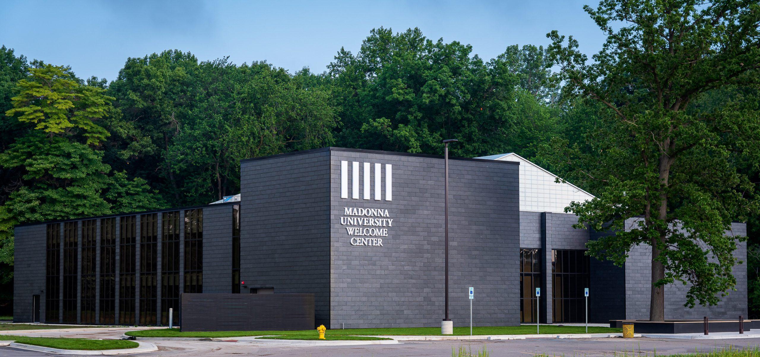 Exterior of Madonna Welcome Center